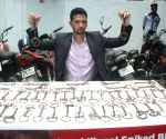 Delhi Police and PETA India display spiked bits