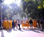 Free Photo: Delhi Police closed at Jantar Mantar during a protest call by Farmers, they don't have permission to hold this protest in Delhi