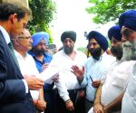 Delhi Sikh Gurdwara Management Committee's protest outside of Italian Embassy