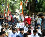 Youth Congress workers protest CBCS