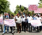 Delhi taxi operators' demonstration against MNC taxi operators