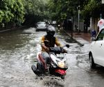 Water-logging after heavy showers in Delhi, but rain deficiency down