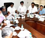 Sukhbir Singh Badal during a high level meeting on governance reforms