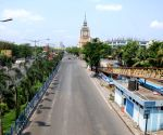 Kolkata : Deserted roads in the City during lockdown on Coronavirus pandemic in Kolkata