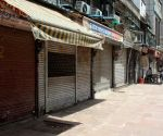 Deserted view of Chandni Chowk after market association announce market closed till april 26, 2021 in new Delhi