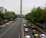 Deserted view of ITO roads during the one week lockdown imposed by Delhi CM Arvind Kejriwal