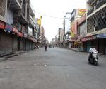 Deserted view of Laxmi Nagar market during the one week lockdown imposed by Delhi CM Arvind Kejriwal
