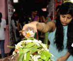 Devotees at Shiv Mandir