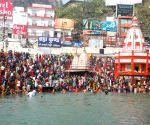 Ardh Kumbh - devotees take holy dip in Ganga