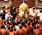 Devotees witness Theerthodbhava at Talacauvery
