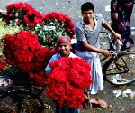 BANGLADESH DHAKA FLOWER MARKET