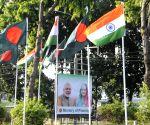 BANGLADESH DHAKA INDIA MODI STATE VISIT BILLBOARDS
