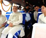 PM Modi flags off the Dhaka-Shillong-Guwahati bus service