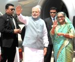 PM Modi arrives at Dhaka