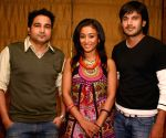 """Director Aarif Sheikh, Actress Gayatri Patel and Actor Ajay Choudhary at a press meet for the film """"Let's Dance"""" in New Delhi on Tuesday 16 June 2009."""