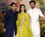 Sonam Kapoor and Anand Ahuja's wedding reception - Ayan Mukerji, Ranbir Kapoor and Alia Bhatt