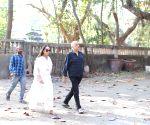 Mahesh Bhatt arrives at Raj Kumar Barjatya's residence