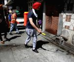 Disinfectants sprayed across the city amid lockdown