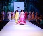 : Mumbai:Divya Khosla Kumar showcasing a creation For Designer  Leela At Bombay Times Fashion Week