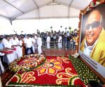M.K. Stalin, newly elected DMK MPs pay tributes at Karunanidhi's memorial