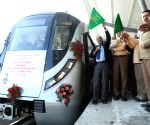 DMRC MD flags off Test Run run between I.P. Extension and Maujpur