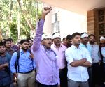 Medicos of NIMS protest against attack on doctors