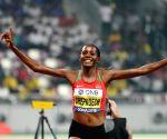 QATAR-DOHA-IAAF WORLD ATHLETICS CHAMPIONSHIPS-WOMEN'S 3000M STEEPLECHASE-FINAL
