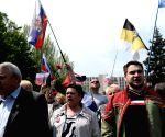 Pro-Russia activists rally in Ukraine