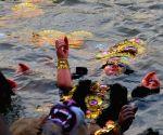 Durga idol immersions