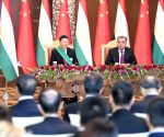 TAJIKISTAN DUSHANBE CHINA PRESIDENTS TALKS
