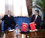 TAJIKISTAN DUSHANBE XI JINPING TURKISH PRESIDENT MEETING