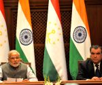 Dushanbe (Tajikistan): Modi-Rahmon - joint press conference