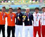Dutch rowers set world best time to win men's quadruple sculls