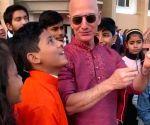#MakarSankranti: Jeff Bezos flies kite with children