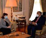 Egypt FM, EU envoy discuss Israeli-Palestinian peace process