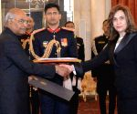 Egyptian Ambassador-designate presents her credentials to President Kovind