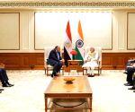 Egyptian FM Sameh Shoukry meets PM Modi