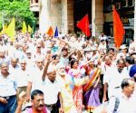 EPS-95 pensioners protest outside EPFO headquarters