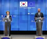 BELGIUM BRUSSELS EU LEADERS ROK VIDEO CONFERNCE
