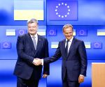 BELGIUM BRUSSELS EU UKRAINE TUSK POROSHENKO