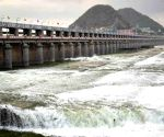 Excess water released from Prakasam Barrage following heavy rains