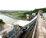 Excess water being released from the Tunga Bhadra dam
