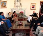 Kabul, (Afghanistan): Sushma Swaraj calls on Hamid Karzai