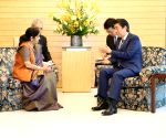 File Photos: Sushma Swaraj meets Japanese PM Shinzo Abe