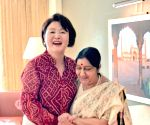 Sushma Swaraj meets First Lady of South Korea