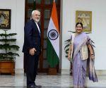 Sushma Swaraj calls on Iranian counterpart