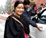 Sushma's husband thanks her for not deciding to contest 2019 polls