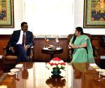 Ethiopia's Foreign Minister Workneh Gebeyehu meets Sushma Swaraj
