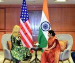 Sushma Swaraj meets Ivanka Trump