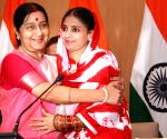 File Photos: Sushma Swaraj with Geeta